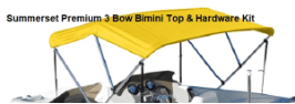 Summerset Premium 3 Bow Bimini Top w/Hardware