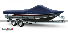 WindStorm Cover for Aluminum Fishing Boat w/ High Windshields