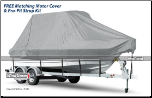 WindStorm Cover for Walk Around Cuddy Boats with Hard Top