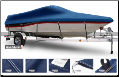 WindStorm Cover for V Hull Runabout Boat with Walk Thru Transom/Windshield & Rails