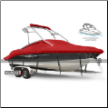 WindStorm Cover for V Hull Runabout Boat with Ski Tower
