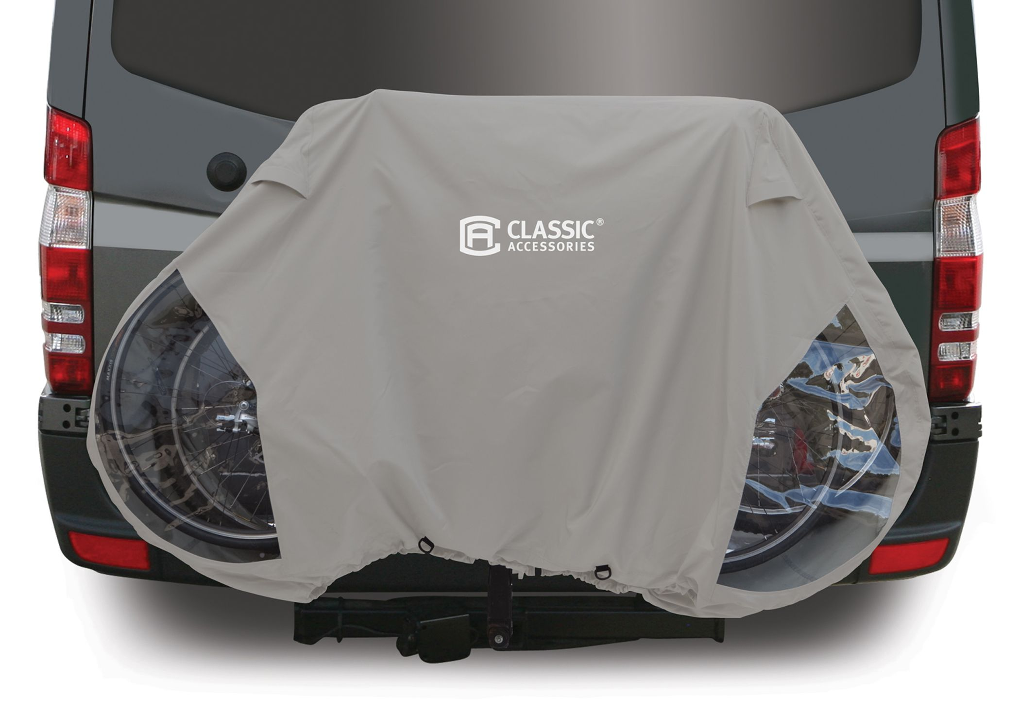 Automobile Car Seat Covers Protective RV Cover for up to 3 Bikes mounted on the Hitch Rack