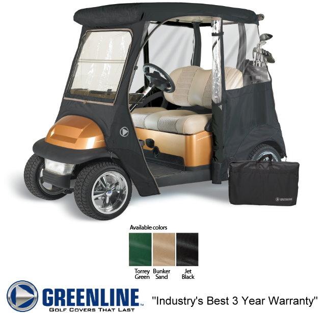Greenline 2 Passenger Club Car Driveable Custom Enclosures