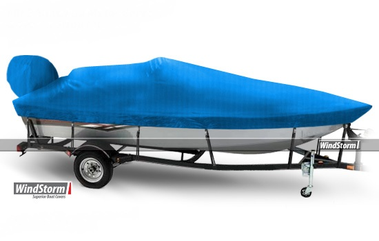 Windstorm Cover For V Hull Fishing Boats With Side Console