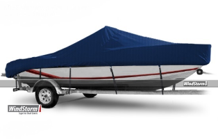 WindStorm Cover for Bay Boat with Center Console & High Bow Rails