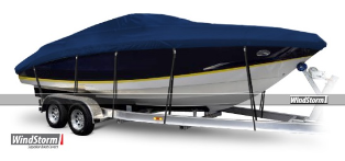 WindStorm Cover for Walk Around Cuddy Cabin Boats with Windshields & Bow Rails