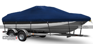 WindStorm Cover for Deck Boats with Low Rails