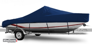 WindStorm Cover for V Hull Boat with Center Console w/ High Bow Rails