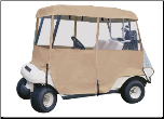 Classic Accessories Fairway 4-Person Deluxe 4-Sided Golf Cart Enclosure