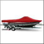 WindStorm Cover for Aluminum Fishing Boat w/ Walk Thru Windshield
