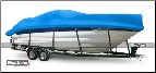 WindStorm Cover for High Profile Cabin Cruiser with Windshield & Bow Rails