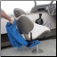 Pack attaches quickly to the boat seat with quick release sraps