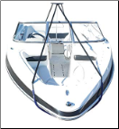 Ridgeline Support Pole System for boats