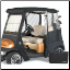 Black 2 passenger golf cart enclosure
