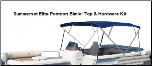 Summerset Elite Sunbrella 4 Bow Bimini Top with Hardware for Pontoons