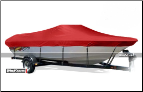 WindStorm Cover for Tri- Hull Runabout Boat with Windshield