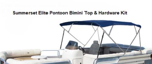 Jeep Bimini Top >> Summerset Elite Sunbrella 4 Bow Bimini Top with Hardware for Pontoons